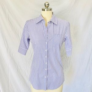 Banana Republic Gingham Button Back Shirt